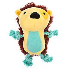 Top Paw® 2 Wild Hedgehog Dog Toy - Plush, Rope