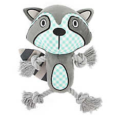 Top Paw® 2 Wild Raccoon Dog Toy - Plush, Rope
