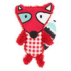 Top Paw® 2 Wild Flattie Fox Dog Toy - Plush