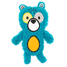Top Paw® 2 Wild Flattie Bear Dog Toy - Plush