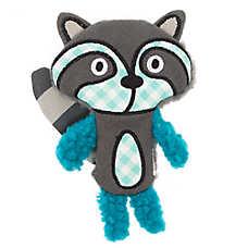 Top Paw® 2 Wild Flattie Racoon Dog Toy - Plush