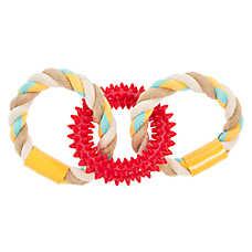 Top Paw® 2 Wild 3 Ring Rope Dog Toy