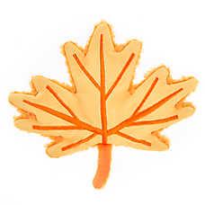 Top Paw® 2 Wild Flattie Maple Leaf Dog Toy