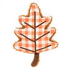 Top Paw® 2 Wild Flattie Gingham Leaf Dog Toy