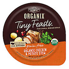Castor & Pollux ORGANIX® Tiny Feasts Grain Free Small Breed Dog Food - Organic Chicken & Potato Stew