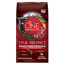 Purina ONE® Smartblend® True Instinct Adult Dog Food - Grain Free, Beef