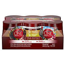 Purina ONE® Smartblend® True Instinct Adult Dog Food - Grain Free, Tender Cuts, 6ct Variety Pack