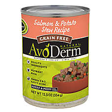 Avoderm® Natural Puppy & Adult Dog Food - Grain Free, Salmon & Potato Stew, 12ct Case