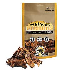 PureBites® Bacon Style Jerky Dog Treat - Natural, Bacon