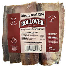 Rollover Meaty Beef Ribs Small Dog Treat - Beef