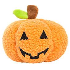 Thrills & Chills™ Halloween Pumpkin Dog Toy - Plush, Squeaker