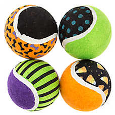 Thrills & Chills™ Halloween Assorted Tennis Balls Dog Toy - 4 Pack