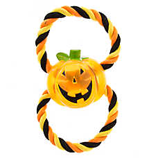 Thrills & Chills™ Halloween Pumpkin Figure 8 Rope Dog Toy