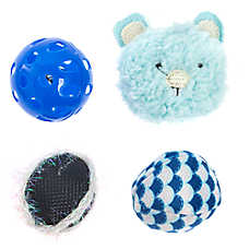 Whisker City® Bear Ball Cat Toys - 4 Pack