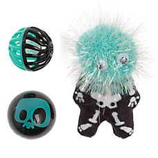 Thrills & Chills™ Halloween Skeleton & Balls Cat Toys -  3 Pack