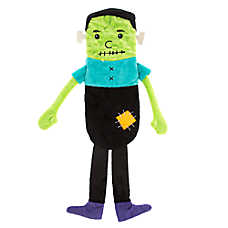 Thrills & Chills™ Halloween Flattie Frankenstein Dog Toy - Plush, Crinkle