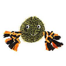 Thrills & Chills™ Halloween Rope Spider Dog Toy - Plush, Squeaker
