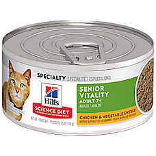 Hill's® Science Diet® Youthful Vitality Adult 7+ Cat Food - Chicken & Vegetable, 24ct Case