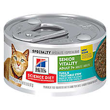 Hill's® Science Diet® Youthful Vitality Adult 7+ Cat Food - Tuna & Vegetable Stew, 24ct Case