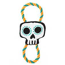 Thrills & Chills™ Halloween Rope Skull - Plush, Squeaker