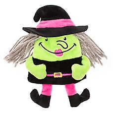 Thrills & Chills™ Halloween Flattie Witch Dog Toy - Plush