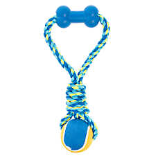 Top Paw® Rope Tug with Tennis Ball Dog Toy