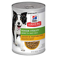 Hill's® Science Diet® Youthful Vitality Adult 7+ Dog Food - Chicken & Vegetable Stew, 12ct Case