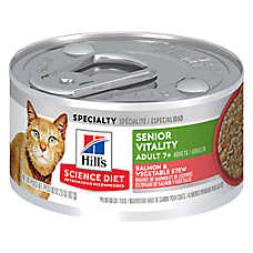 Hill's® Science Diet® Youthful Vitality Adult 7+ Cat Food - Salmon & Vegetable Stew