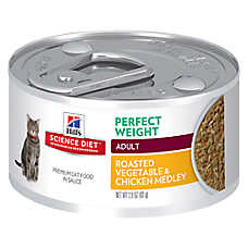 Hill's® Science Diet® Perfect Weight Adult Cat Food - Roasted Vegetable & Chicken, 24ct Case