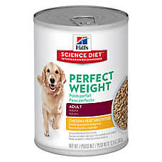 Hill's® Science Diet® Perfect Weight Adult Dog Food - Chicken & Vegetable, 12ct Case