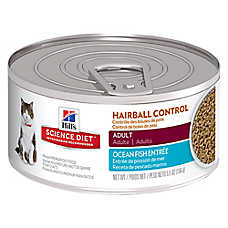 Hill's® Science Diet® Hairball Control Adult Cat Food - Ocean Fish, 24 ct Case