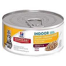Hill's® Science Diet® Indoor Adult Cat Food - Savory Chicken, 24 ct Case