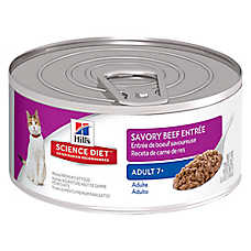Hill's® Science Diet® Adult 7+ Cat Food - Savory Beef, 24ct Case