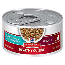 Hill's® Science Diet® Healthy Cuisine Adult Cat Food - Seared Tuna & Carrots, 24ct Case