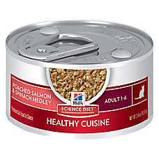 Hill's® Science Diet® Healthy Cuisine Adult Cat Food - Poached Salmon & Spinach, 24ct Case