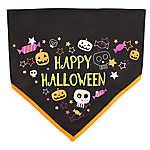 "Thrills & Chills™ ""Happy Halloween"" Glow-in-the-Dark Dog Bandana"