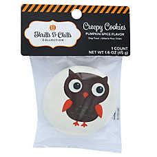 Thrills & Chills Pet Halloween Creepy Cookies Owl Dog Treat