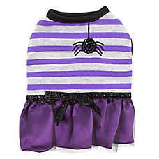 Thrills & Chills™ Halloween Striped Spider Dress