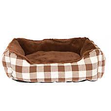 Grreat Choice® Checkered Cuddler Pet Bed