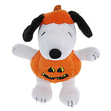 Peanuts® Snoopy Pumpkin Dog Toy - Plush, Squeaker