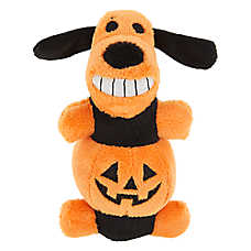 BOBO™ Pumpkin Dog Toy - Plush, Squeaker