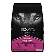 EVO Small Bites Adult Dog Food - Grain Free, Gluten Free, Red Meat