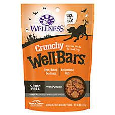 Wellness® Crunchy Wellbars Halloween Dog Treat - Grain Free, Pumpkin