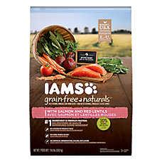 Iams® Grain Free Naturals™ Adult Dog Food - Natural, Grain Free, Salmon & Red Lentils