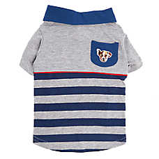 ED Ellen DeGeneres Striped Polo Dog Tee