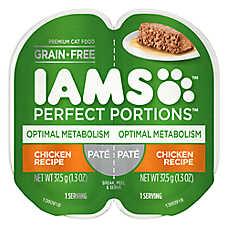 Iams® Perfect Portions Optimal Metabolism Cat Food - Grain Free, Chicken, Pate