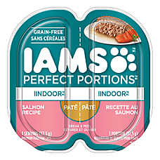 Iams® Perfect Portions Indoor Cat Food - Grain Free, Salmon, Pate