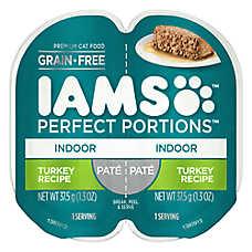 Iams® Perfect Portions Indoor Cat Food - Grain Free, Turkey, Pate