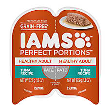 Iams® Perfect Portions Healthy Adult Cat Food - Grain Free, Tuna, Pate