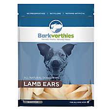 Barkworthies Lamb Ears Dog Treat - Natural, Lamb